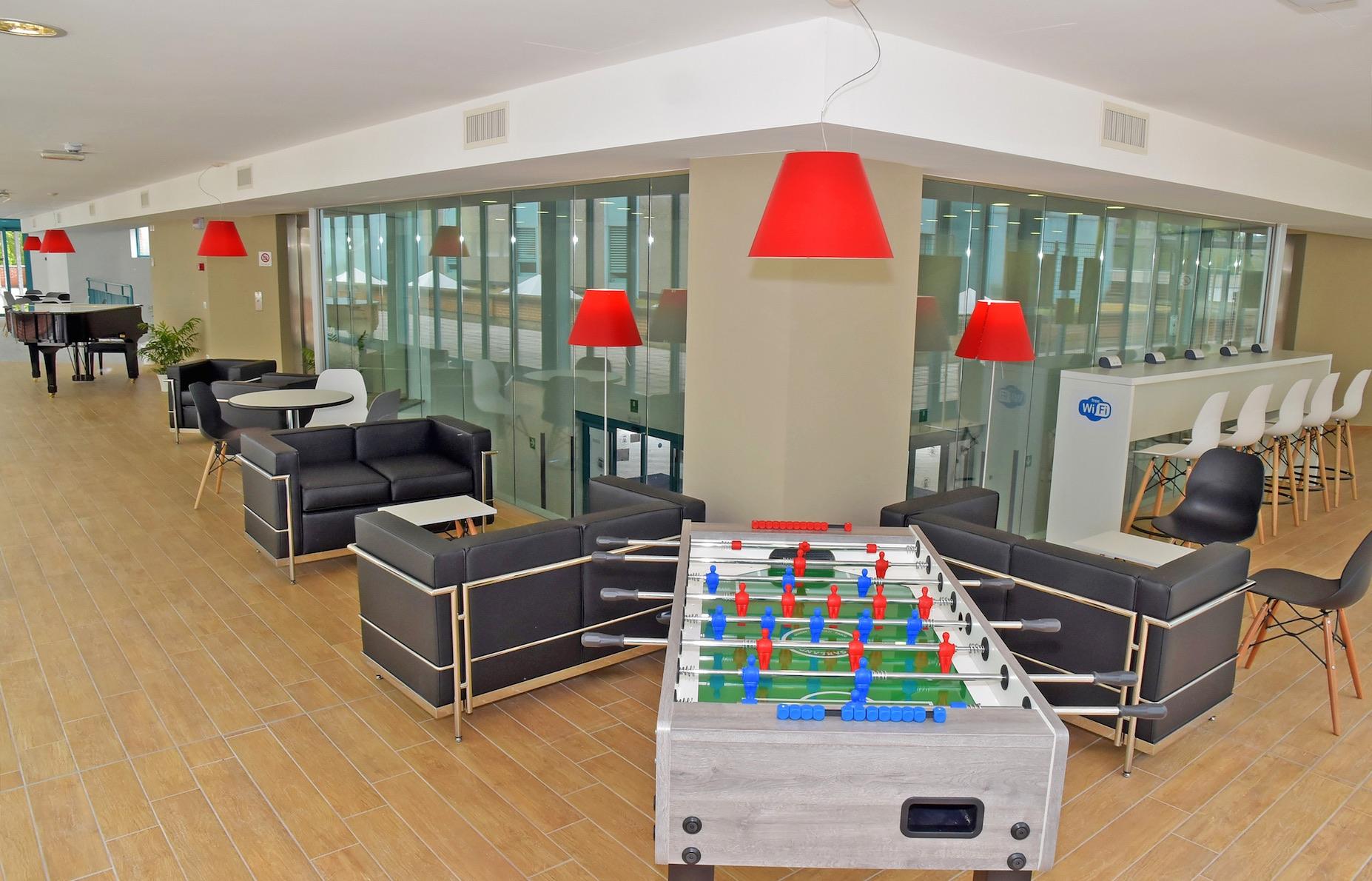 Un'immagine della Lounge dell'IRCCS Pavia