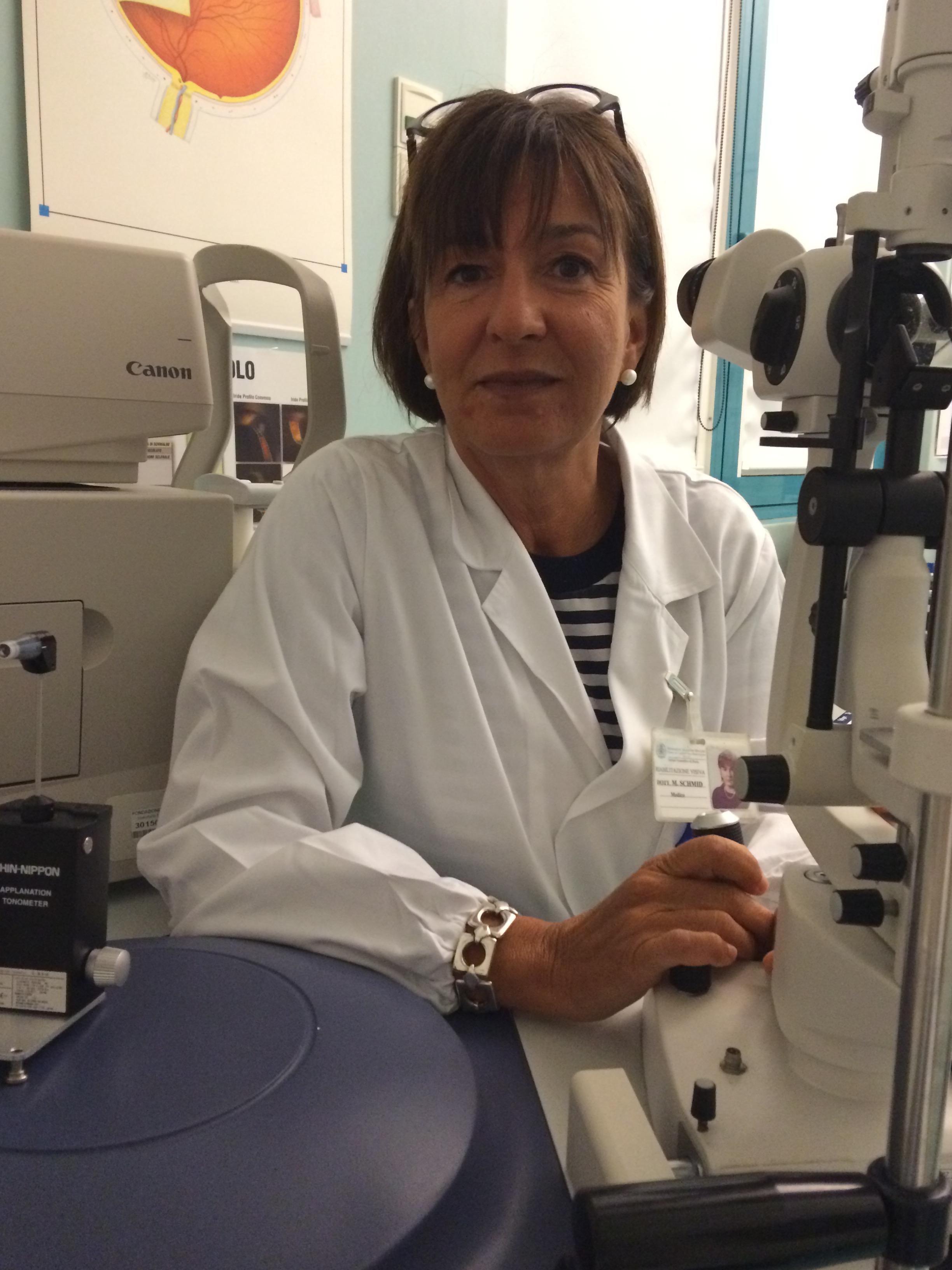 Monica Schmid, oculista dell'IRCCS Maugeri di Pavia