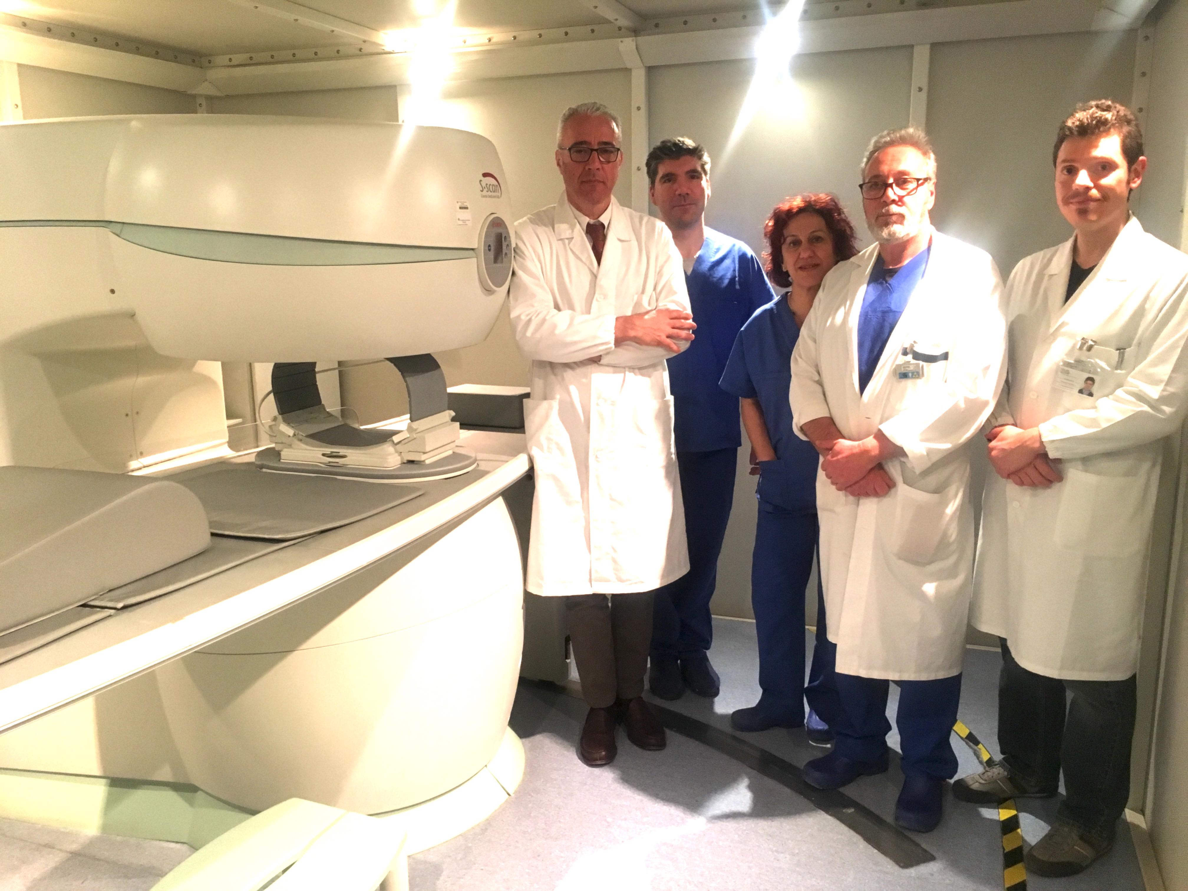 Il team di radiologia dell'IRCCS Montescano