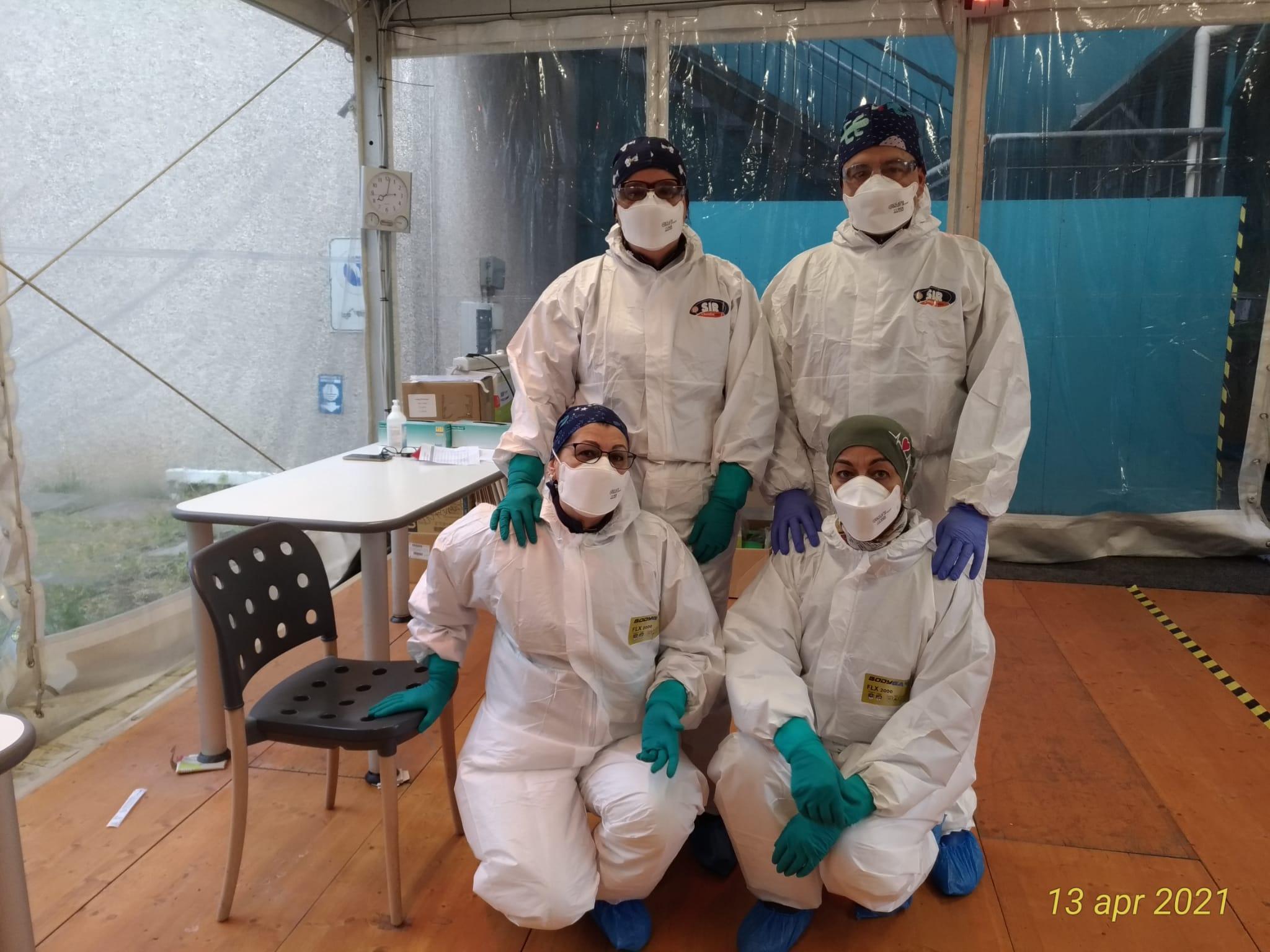 Squadra tamponi all'IRCCS Pavia