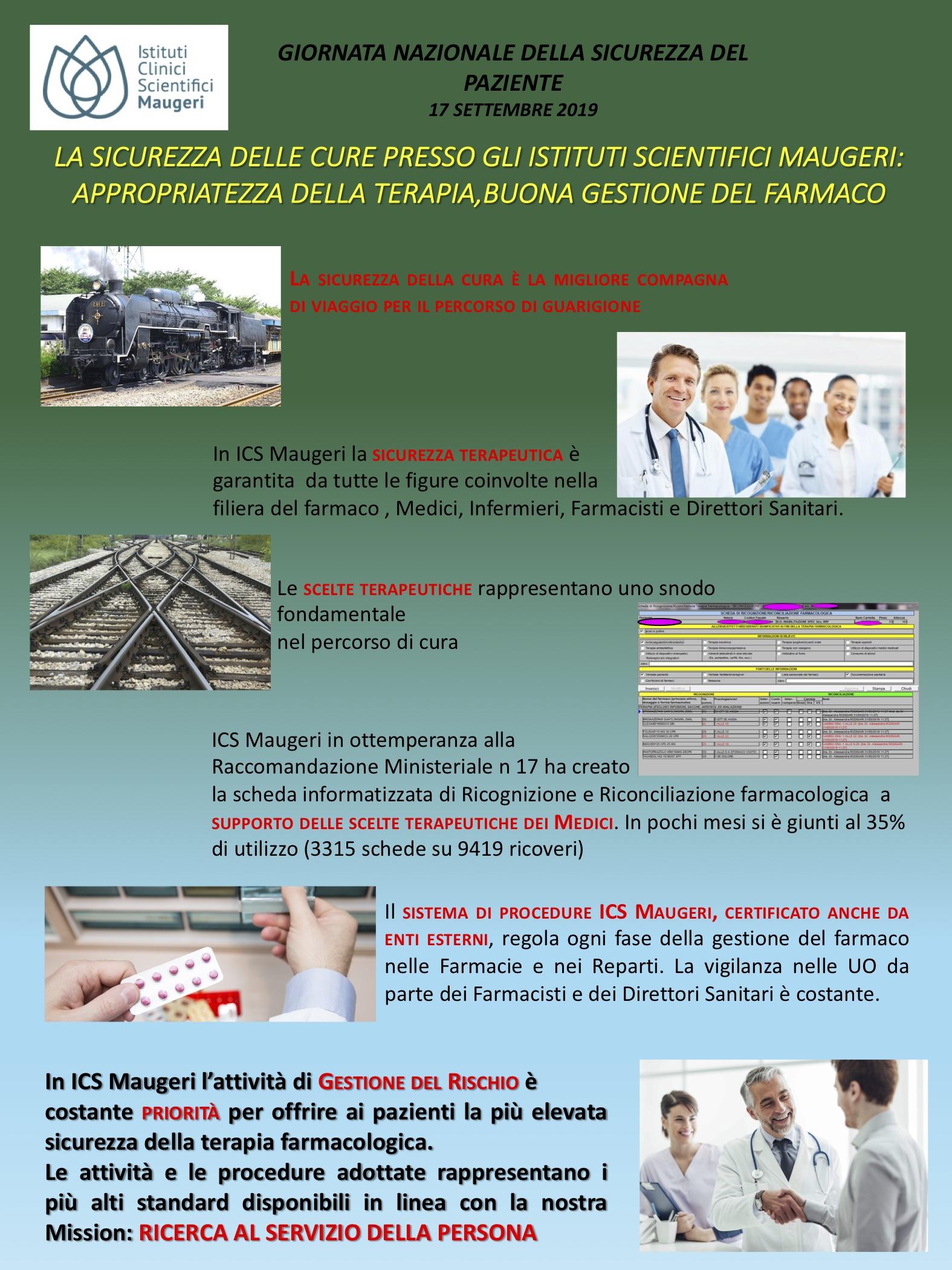Rischio Clinico Somministrazione Farmaci.Giornata Per La Sicurezza Del Paziente In Ospedale Ics Maugeri